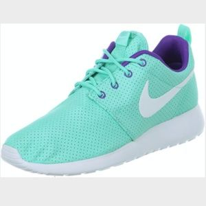 Nike Roshe Run One Teal Sneakers Shoes Size 9